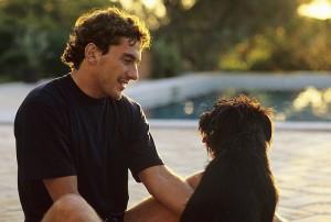 Ayrton_Senna_with_a_Dog